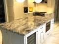 Moorestown White Black Gold Kitchen