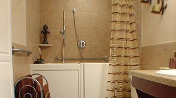 Photograph of Walk-in Tub Shower