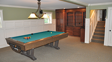 Photograph of Finished Basement